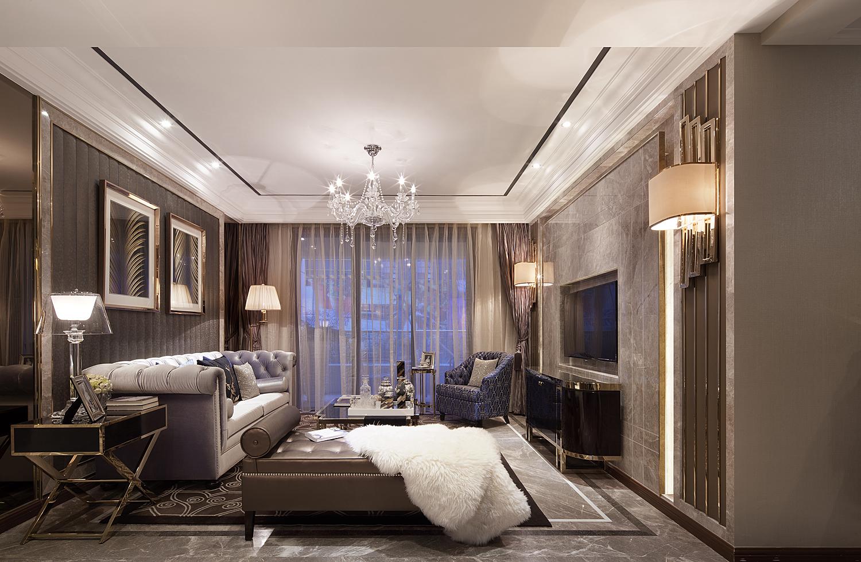 时尚 客厅图片来自实创装饰上海公司在富含文化品味的现代港式装修的