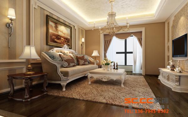 运用咖色系列与金属色搭配以呈现居室的气派与复古韵味。客厅内的家具,大多有花纹、雕饰等造型,图案典雅,线条优美。设计出复古与时尚的碰撞感,富丽但不张扬,华贵而不庸俗。