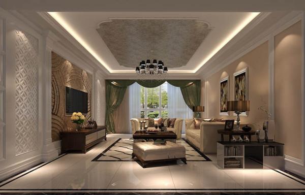 此设计功能格局合理,色调温和,结合业主的需求,打造出温馨舒适,优雅大方的家居环境,现代和中式的结合打造出完美的新中式风格。