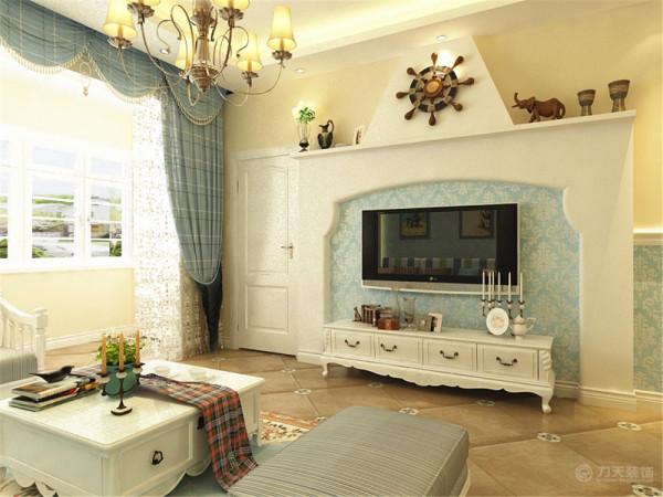 紫竹华庭二期3、4、5号楼标准层A1户型图2室2厅1卫1厨 95.00㎡。设计的是一套地中海风格的作品。
