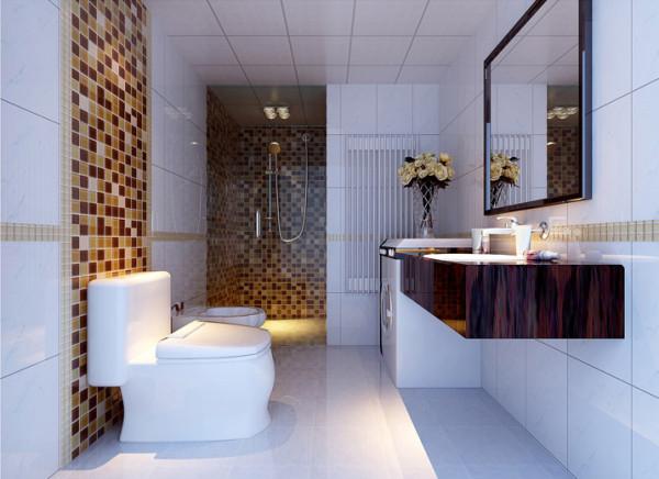 一楼卫生间 7平方卫生间 设计理念:高科技的现代洗浴设备,塑造了业主不凡的品位与形象。间呈活泼的气氛。不同的材料与造型独特的洁具的巧意搭配营造出主人出众的品位。