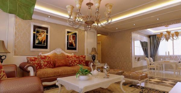中海明珠165平欧式风格沙发