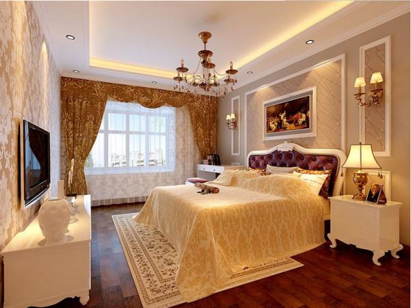 成都绿地中心468公馆-三居室-102平米-卧室装修设计