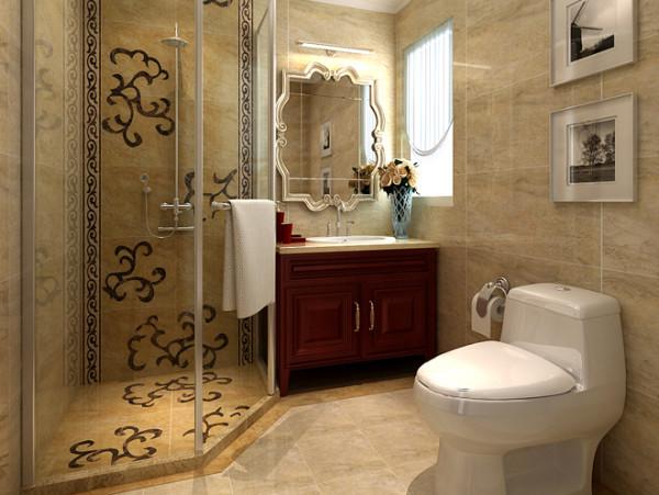 卫生间实景图  设计说明:色彩明快是简约主要的特点,其中墙面多边形镜面,加入了欧式奢华的元素。简约而不简单,卫生间一样充满了设计元素,艺术品的悬挂给卫生间加入了不同的感觉