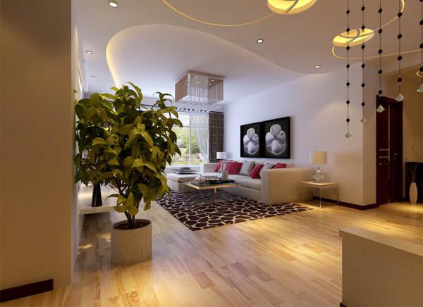 客厅较为宽敞,采光良好,在装饰方面采用了浅色的地砖和带有古典江南色彩的壁纸,家具方面采用了显得稳重的灰色系,动静结合,相得益彰。