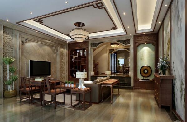 在石材应用上,特定石材与珍贵木材的使用构筑成空间架构的主体,别致的中式雕花,展现出精湛的施工工艺