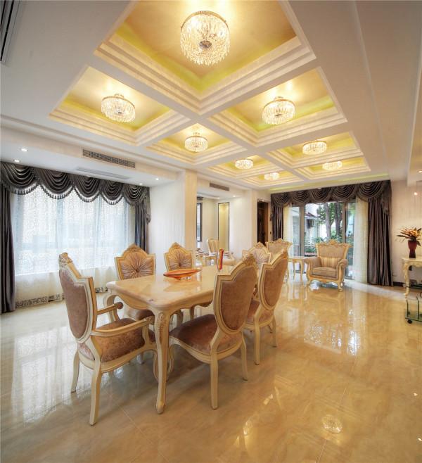 别墅 别墅装修 别墅设计 实景展示 聚通装璜 欧式 餐厅图片来自jtong