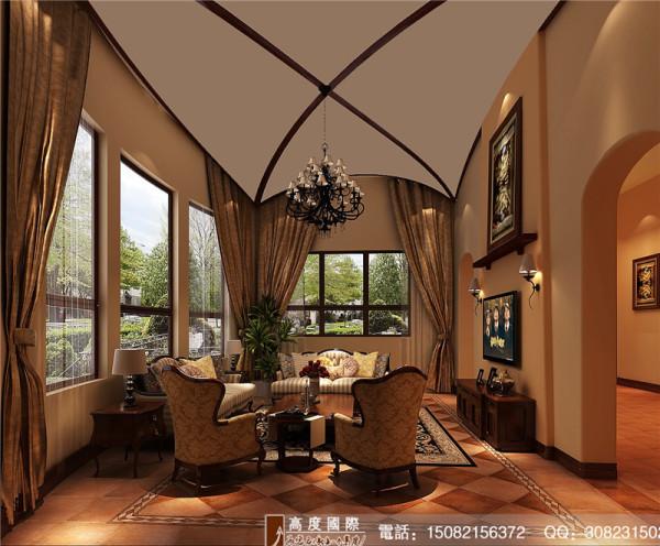 城南逸家客厅细节效果图-成都高度国际装饰