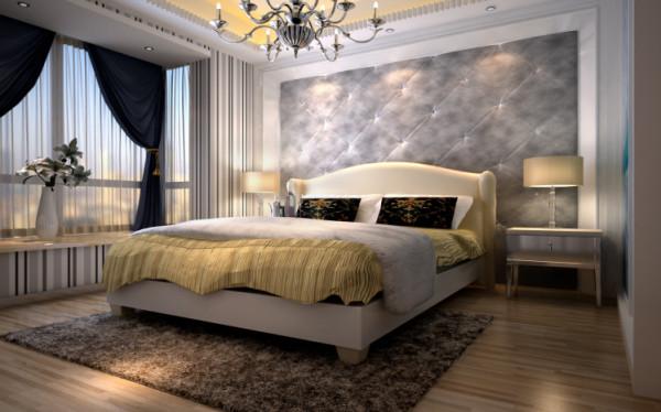 卧室:空间的狭小不是格调缺失的借口,即使在小的空间,只要用心点缀,都可以呈现出一种专属的空间情调。一盏银色的金属吊灯以摩登时尚的造型,营造出空间的焦点,与简洁的台灯提升一室的艺术氛围。