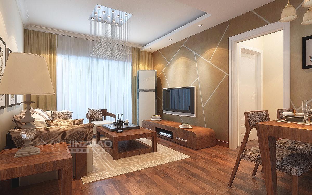 金泰新理城 二居室装修 现代简约 新房装修 今朝装饰 客厅图片来自