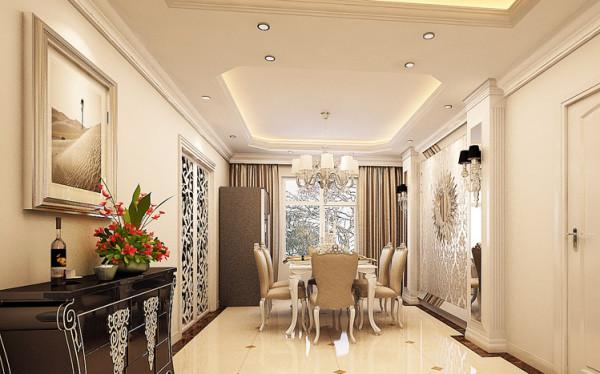 厨房区的收纳高柜隐藏于整个壁面,用开放式餐厅与客厅连贯处理,并用厨具延伸出极富趣味且实用的弹性空间,不但放大餐厅空间,更加强了厨房与餐厅、餐厅与客厅的互动感