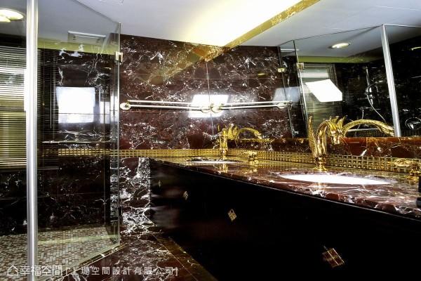 极尽奢华的用料选材,打造出精品饭店般的盥浴环境。