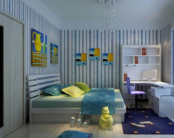 橡树玫瑰城130平方三室两厅装修---卧室装修效果图
