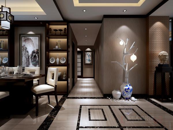 过道 灯光一般以暖调为主,用射灯和灯带来达到多层次的灯光效果。
