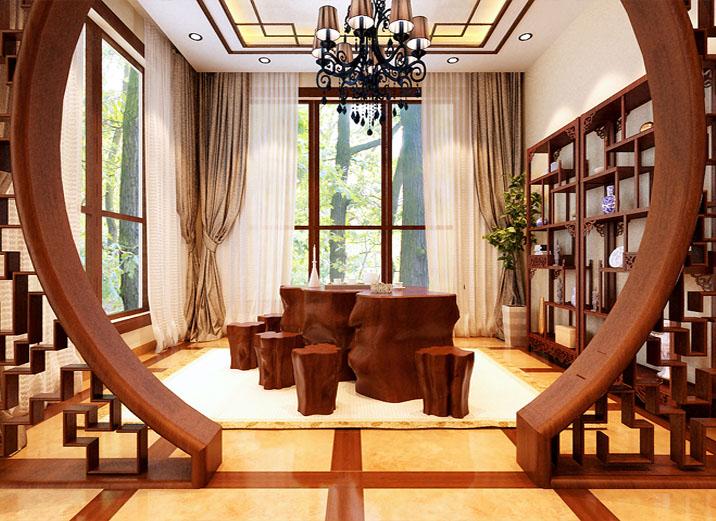 别墅装修 其他图片来自实创装饰集团广州公司在新中式混搭风格星河湾图片