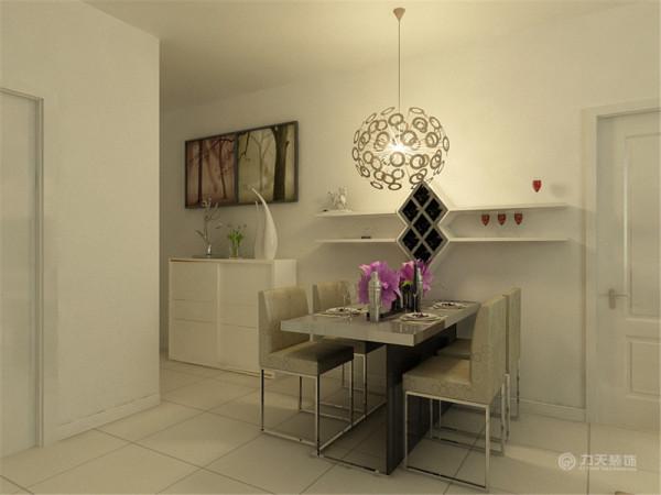 我的设计风格是简约风格,我们首先看餐厅,餐厅很简单,放置了4人餐 桌,餐桌边上是堂版,利于放置一些酒杯之类的物品,时尚而浪漫。