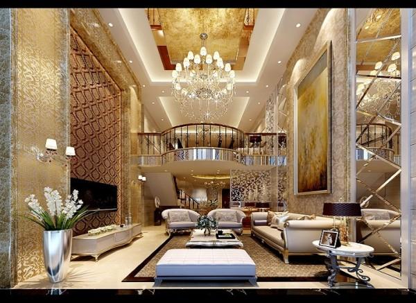 根据客户的要求,背景墙简洁大方的方向,采用了顶级莎安娜石材,背景则贴墙纸。沙发背景则和电视背景墙对称,整体看起来更奢华大气。 亮点:电视背景