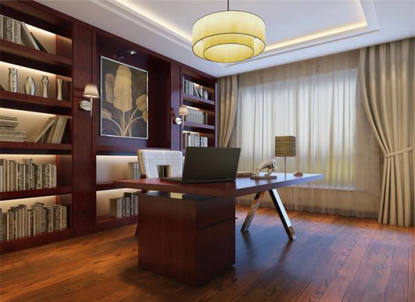 书房整体书柜因为中式的可以找回感觉到中国的博大精深、和精髓、和文人墨客的典雅。