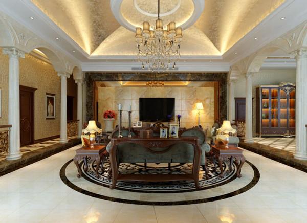 客厅的整体显得高端大气,在家庭中客厅是一个连接内外沟通客主情感和主人休闲的主要场所。