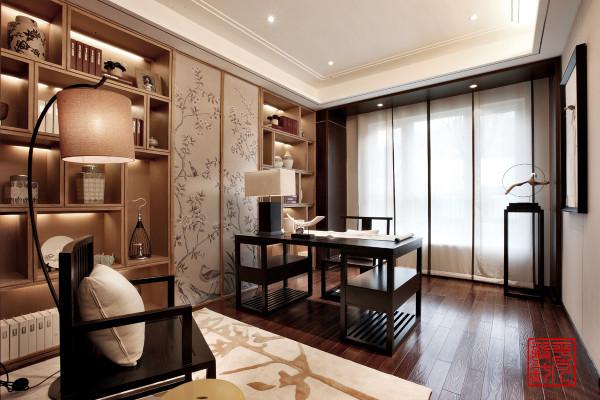 三居中式书房装修效果图片_装修美图-新浪装修家居网