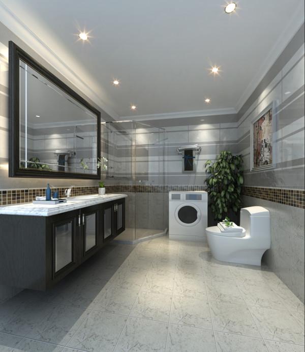 天通苑西三区套内95平米两居室户型卫生间效果图展示