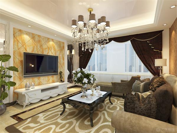 该户型亿城堂庭两室一厅一厨两卫105㎡,明亮、方正、适于设计。我的设计风格是欧式风格。