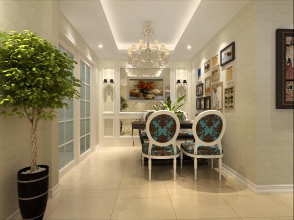 天通苑西三区套内95平米两居室户型餐厅效果图展示
