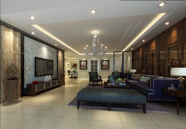 天通苑西三区套内95平米两居室户型客厅效果图展示