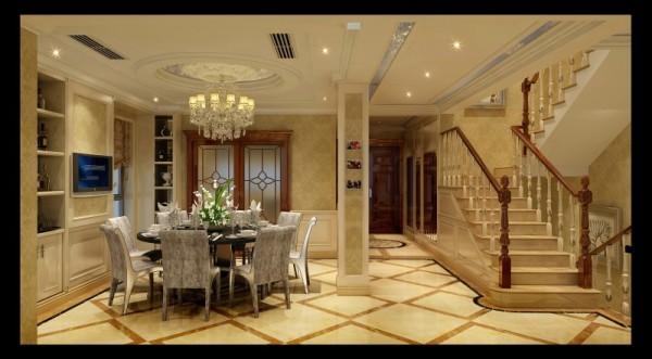 水韵尚城欧式风格餐厅设计案例效果图