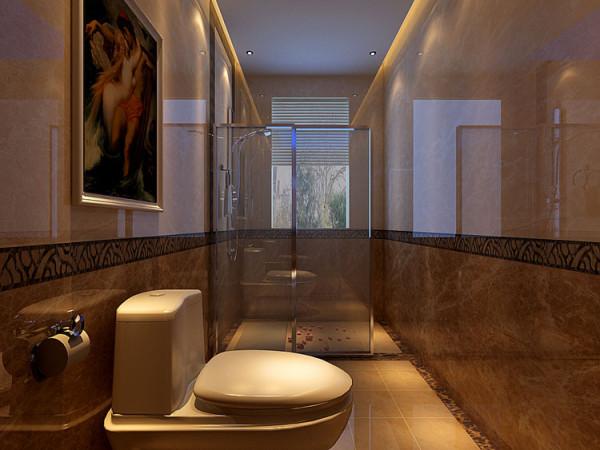 中豪汇景湾四室两厅卫生间现场装修效果图