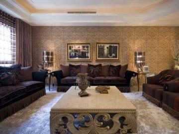 摩纳哥风格大户型家庭装修