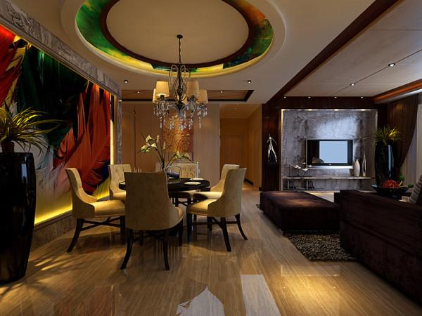 中豪汇景湾四室两厅180平方装修样板间-餐厅简约风格装修效果图