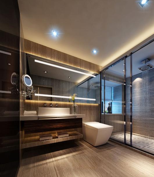 卫生间图片来自唯美装饰在都市经典180平简约中式风格的分享图片