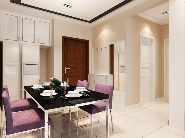餐厅是家居生活的心脏,不仅要美观,更重要的实用性,餐桌椅运用了时尚而简洁的造型,整体性。