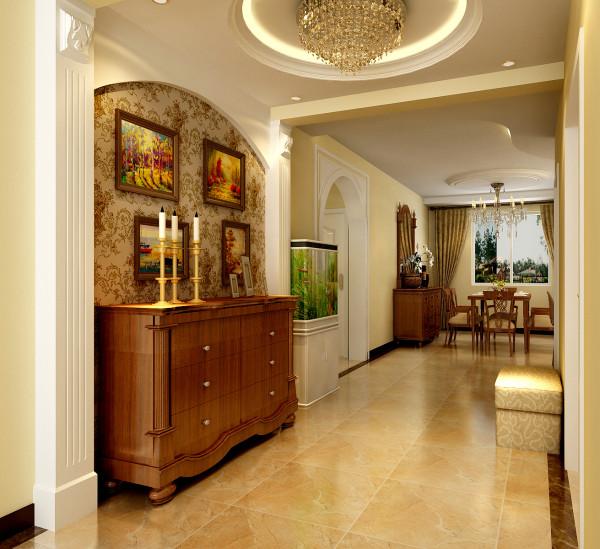 设计理念:门厅放一个整体鞋柜,旁边放张圈椅,提高了整体的生活品质,更显高端大气上端次!