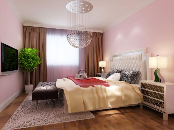 华润橡树湾-85平米-简约风格装修-卧室装修效果图