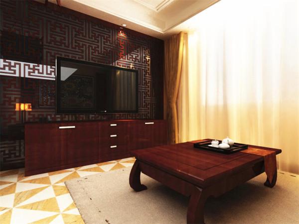 设计风格为中式风格。中式风格最大特点是优雅、庄严,常以浓烈而深沉的色彩来装饰。
