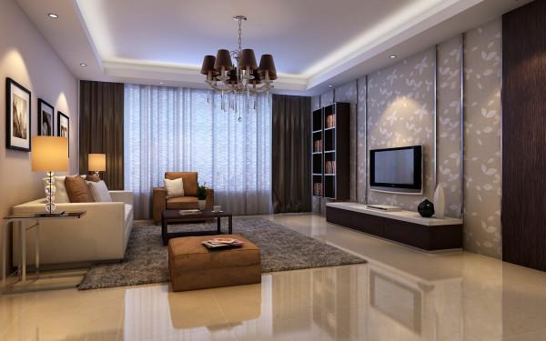 华润橡树湾-85平米-简约风格装修-客厅装修效果图