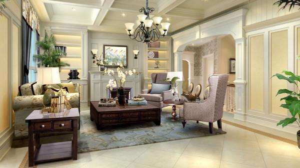 欧式田园风格的特点主要在于家具的洗白处理及大胆的配色,以明媚的色彩设计方案为主要色调。