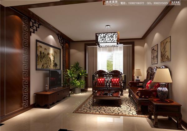 红树湾客厅细节效果图-成都高度国际装饰