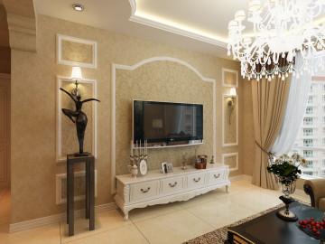 首创国际欧式风格两居婚房