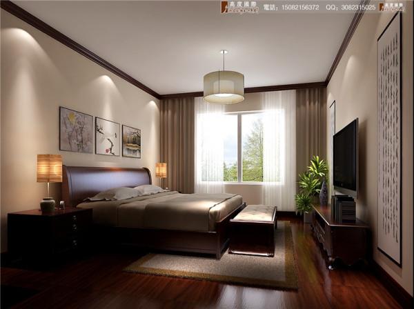 红树湾卧室细节效果图-成都高度国际装饰