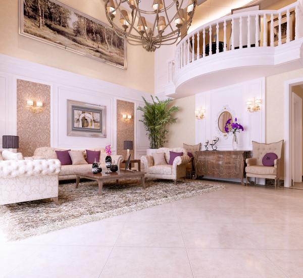 客厅:客厅的底色大多采用白色、淡色为主,墙面使用墙纸会显得比较高贵。