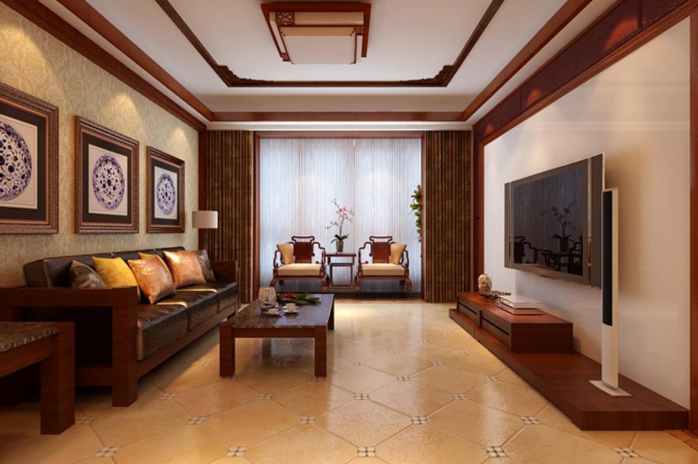 三居 新中式 效果图 客厅图片来自石家庄业之峰装饰虎子在国瑞城149