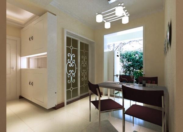 整体厨房的烤漆门板把现代气息带了进来。