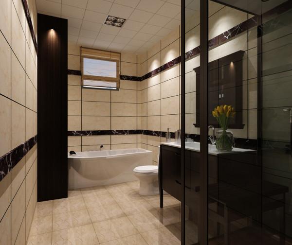 棕榈泉三居室(176平米)户型卫生间效果图展示
