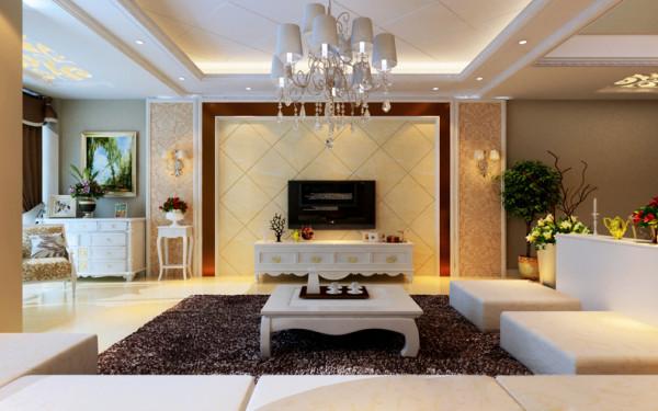 该户型为喜年广场公寓,设计风格是简欧风格,整体以暖色调为主。