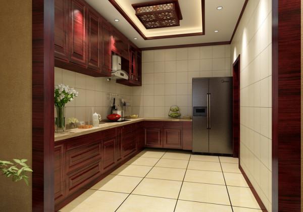 棕榈泉三居室(176平米)户型厨房效果图展示