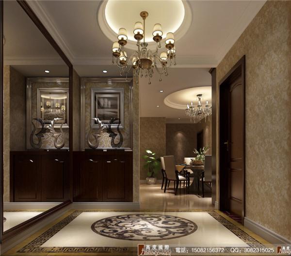 红树湾门厅细节效果图-成都高度国际装饰