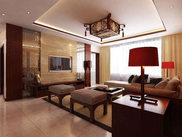 该户型华亭丽园标准层户型3室2厅2卫1厨。设计的是一套中式风格的作品。